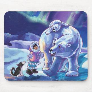 北極の友達 マウスパッド