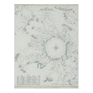 北極の地図 ポストカード