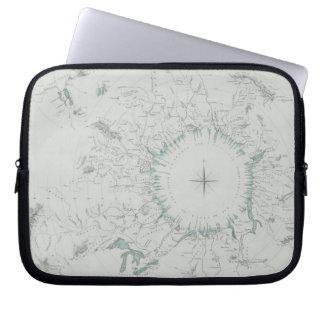 北極の地図 ラップトップスリーブ