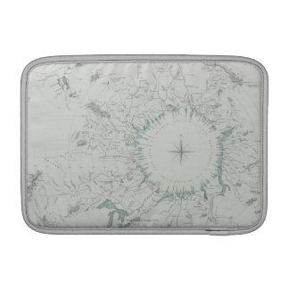 北極の地図 MacBook スリーブ