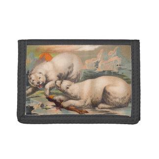 北極の戦いの財布 ナイロン三つ折りウォレット