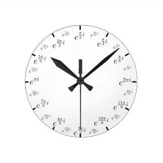 北極の数学の時計 ラウンド壁時計