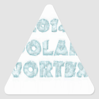 北極の渦の記念物 三角形シール