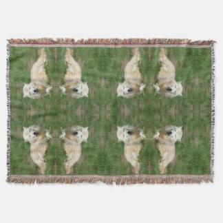 北極オオカミのイヌ科動物毛布 スローブランケット