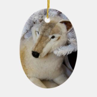 北極オオカミのクリスマスのオーナメント セラミックオーナメント