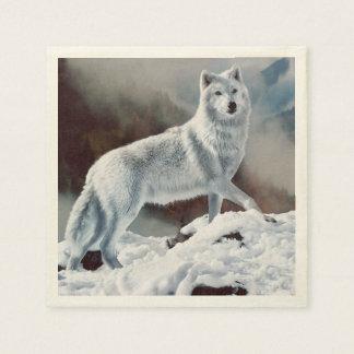 北極オオカミ スタンダードカクテルナプキン