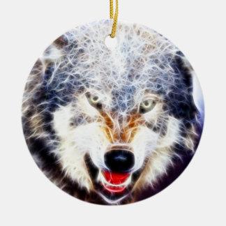 北極オオカミ セラミックオーナメント