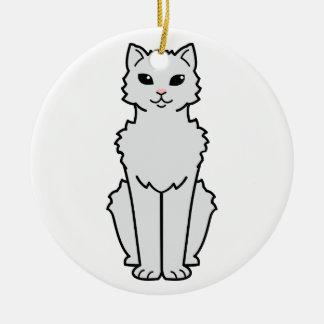 北極カール猫の漫画 セラミックオーナメント