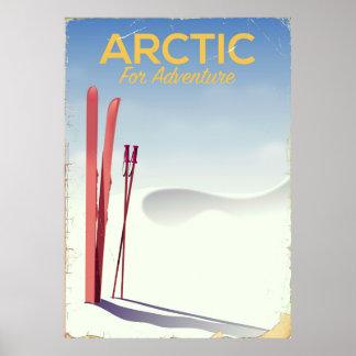 北極スキーヴィンテージの冒険の調査ポスター ポスター