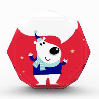 北極テディが付いているデザイナー版 表彰盾