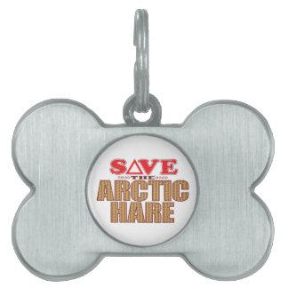 北極ノウサギは救います ペットネームタグ