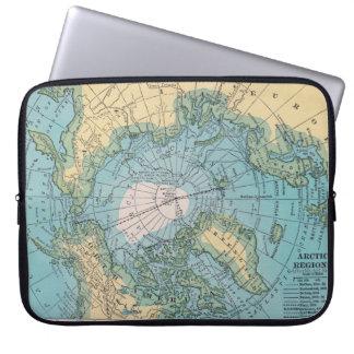 北極ラップトップスリーブのヴィンテージの地図 ラップトップスリーブ