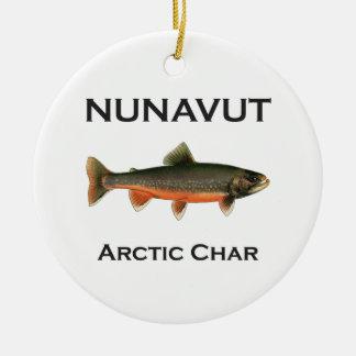 北極木炭のロゴを採取するNunavut セラミックオーナメント