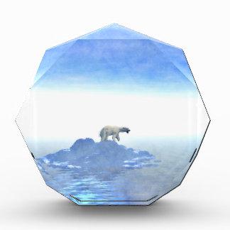 北極氷山に関係して下さい 表彰盾