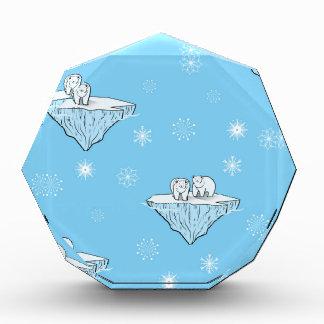 北極氷山に関係します 表彰盾