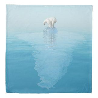 北極氷山(2つの側面)の女王の羽毛布団カバーに関係して下さい 掛け布団カバー