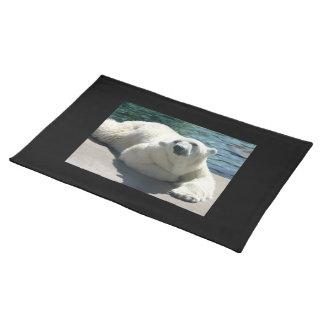 北極白くまのランチョンマット ランチョンマット