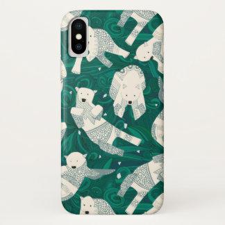 北極白くまの緑 iPhone X ケース