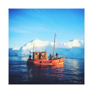 北極魚釣りのキャンバス キャンバスプリント