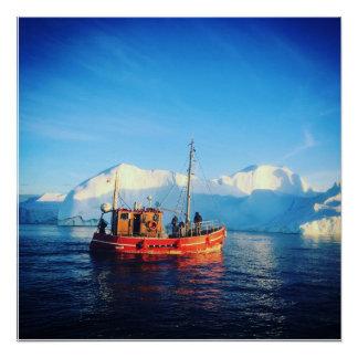 北極魚釣りポスター ポスター