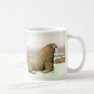 北極、野生動物の氷山のヴィンテージのセイウチ コーヒーマグカップ