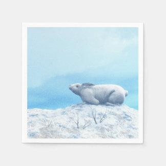 北極arcticusノウサギ、lepusまたは北極のウサギ スタンダードカクテルナプキン