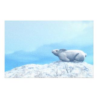 北極arcticusノウサギ、lepusまたは北極のウサギ 便箋