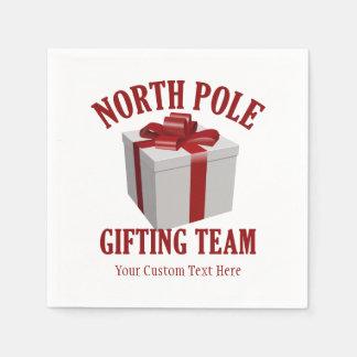 北極Giftingのチームカスタムな紙ナプキン スタンダードカクテルナプキン