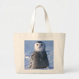 北極Snowyのフクロウの写真は個人的設計しました ラージトートバッグ