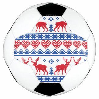 北欧のクリスマスのトナカイパターン サッカーボール