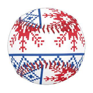 北欧のクリスマスの雪片のボーダー 野球ボール