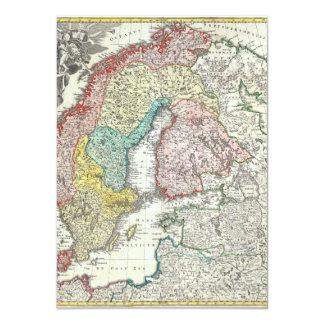 北欧の旧世界の地図 カード