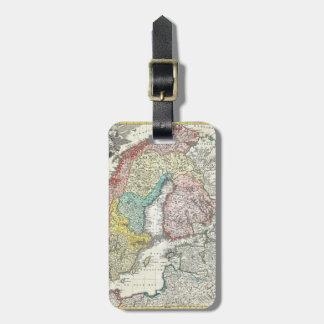 北欧の旧世界の地図 ラゲッジタグ