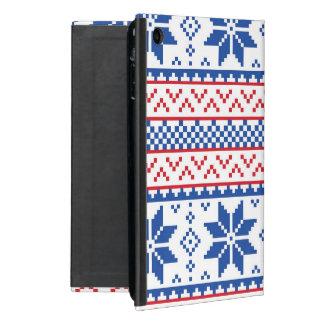 北欧の雪片のクリスマスパターン iPad MINI ケース