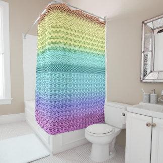 北欧人のBohoのボヘミアの種族の虹のユニークなアズテック人 シャワーカーテン