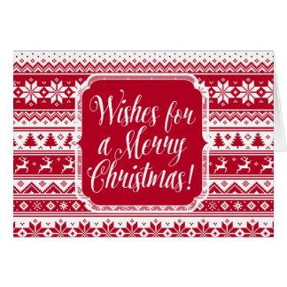 北欧人-スカンジナビアのクリスマスカード カード