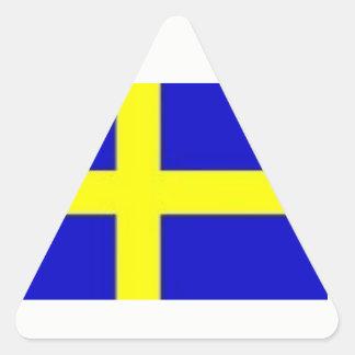 北欧理事会のスウェーデン人のステッカー 三角形シール
