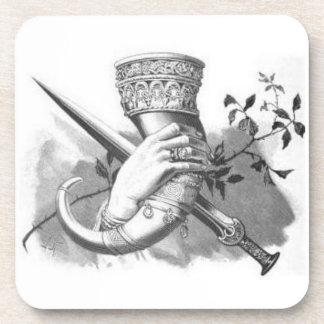 北欧神話の飲む角のコースター コースター