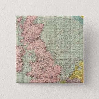 北海 5.1CM 正方形バッジ