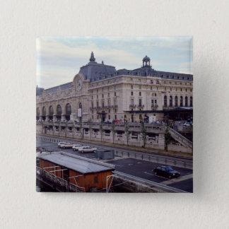 北西からd'Orsay Museeの眺め 5.1cm 正方形バッジ
