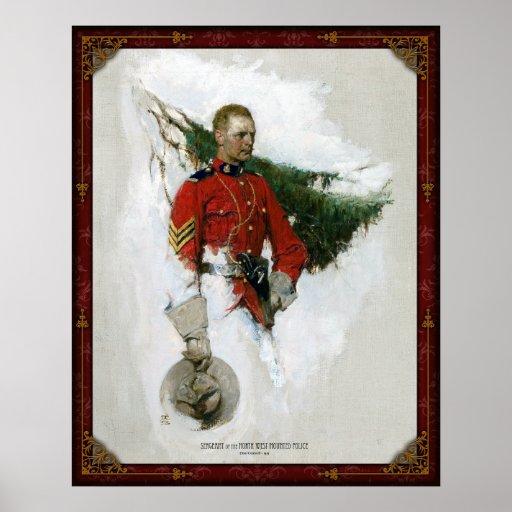 北西によって取付けられる警察の下士官- 1919年 ポスター
