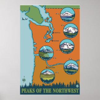 北西のピーク- 5つの山 ポスター
