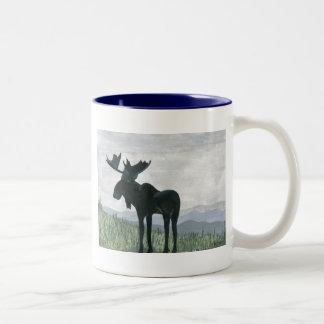北西アメリカヘラジカ ツートーンマグカップ