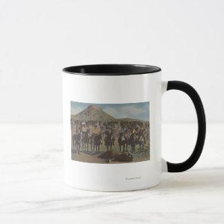 北西インディアン-バッファローの狩りおよびインディアン マグカップ