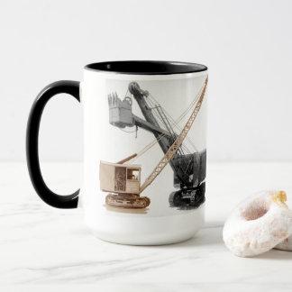 北西シャベルおよびクレーンヴィンテージ装置 マグカップ
