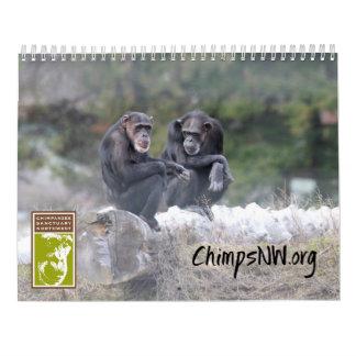北西チンパンジーの聖域のための2018カレンダー カレンダー