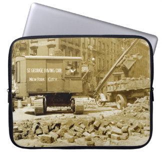 北西ニューヨークシティの建設用クレーンの20年代 ラップトップスリーブ