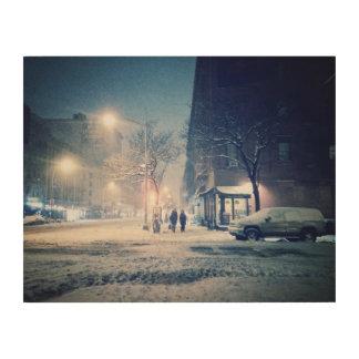 北西側の冬夜 ウッドウォールアート
