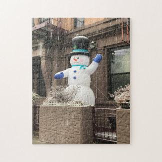北西側の雪だるまのニューヨークシティNYCの雪 ジグソーパズル