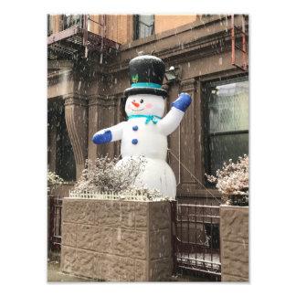 北西側の雪だるまのニューヨークシティNYCの雪 フォトプリント